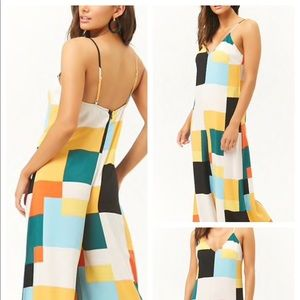 Forever 21 Colorblock Wide-Leg Jumpsuit